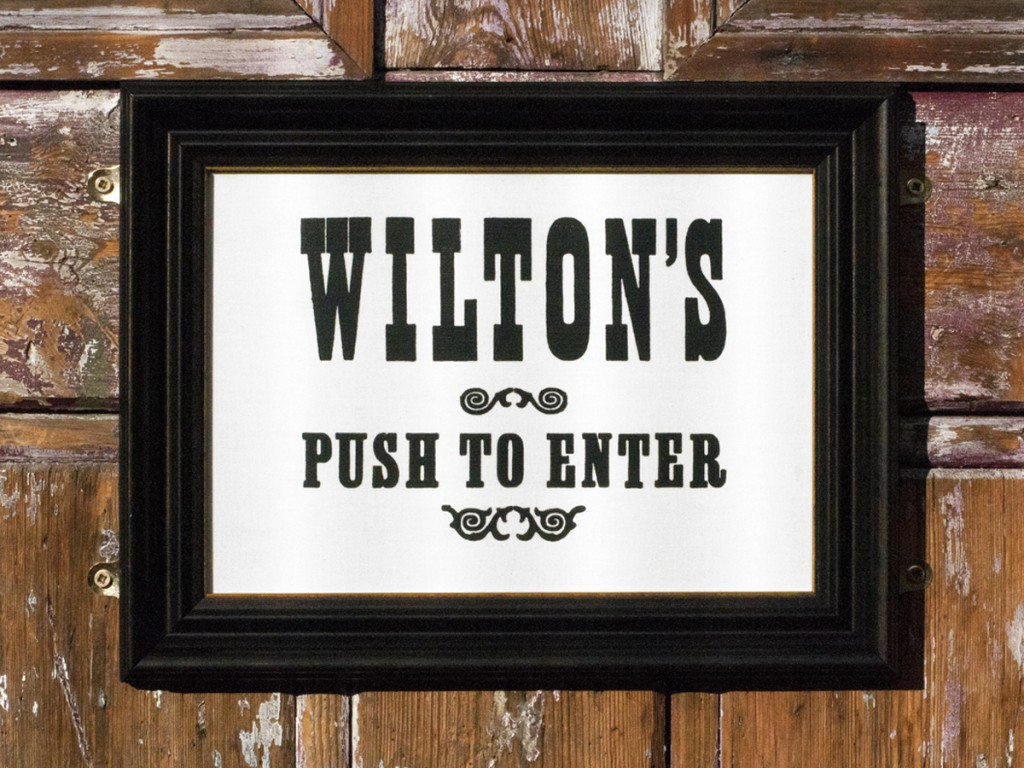 NNP_Wiltons-signage_in-situ_Welcome